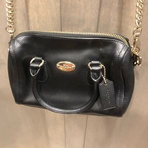 COACH black purse/crossbody